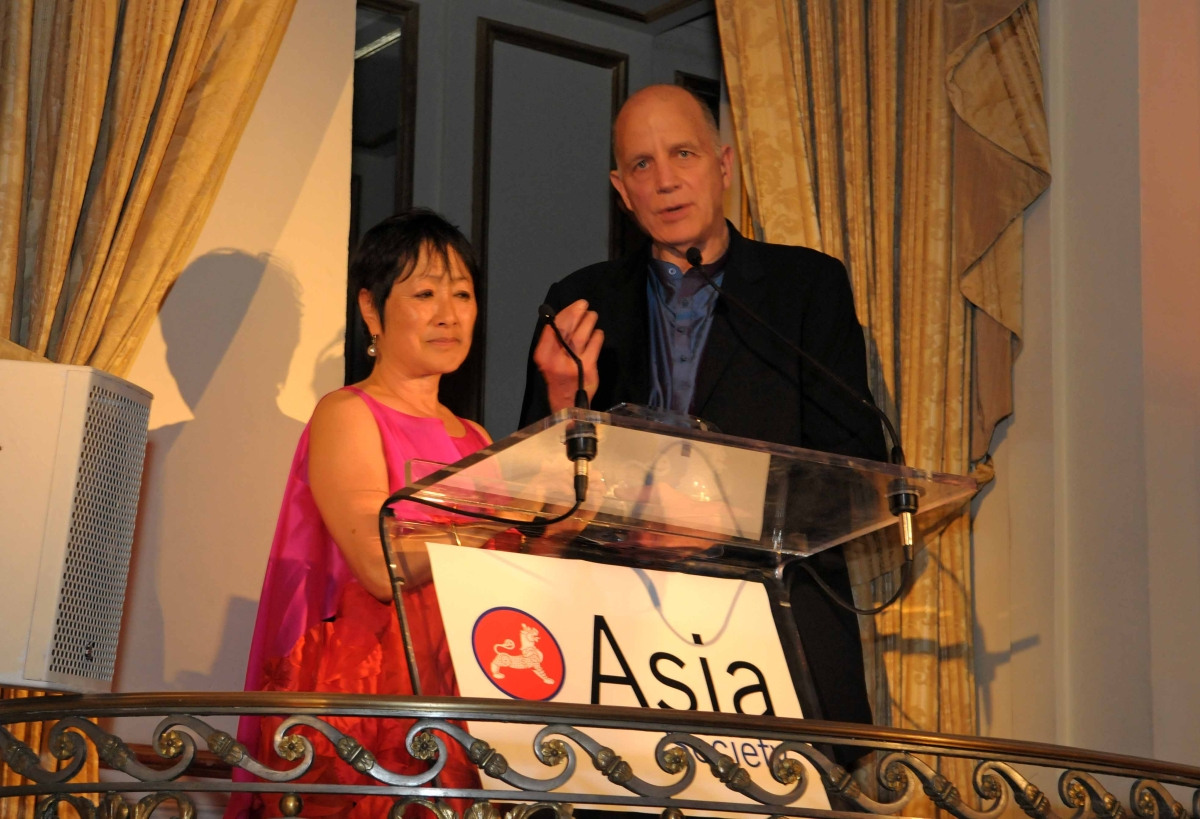 Architects Billie Tsien and Tod Williams, who designed Asia Society's recently opened Hong Kong Center, received the Global Arts Award. (Elsa Ruiz)