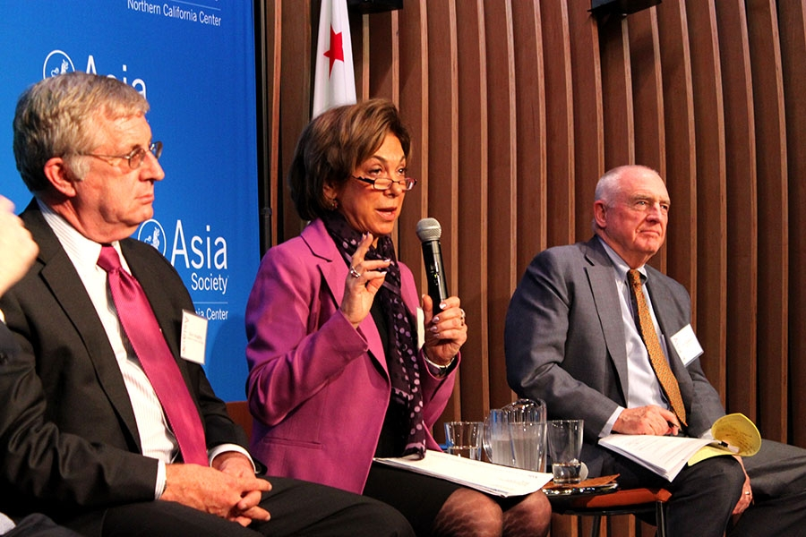 Laura Tyson, former Chair of the President's Council of Economic Advisers, spoke at our inaugural Forecast Asia program in February, which examined the current economic reforms in China. (Asia Society)
