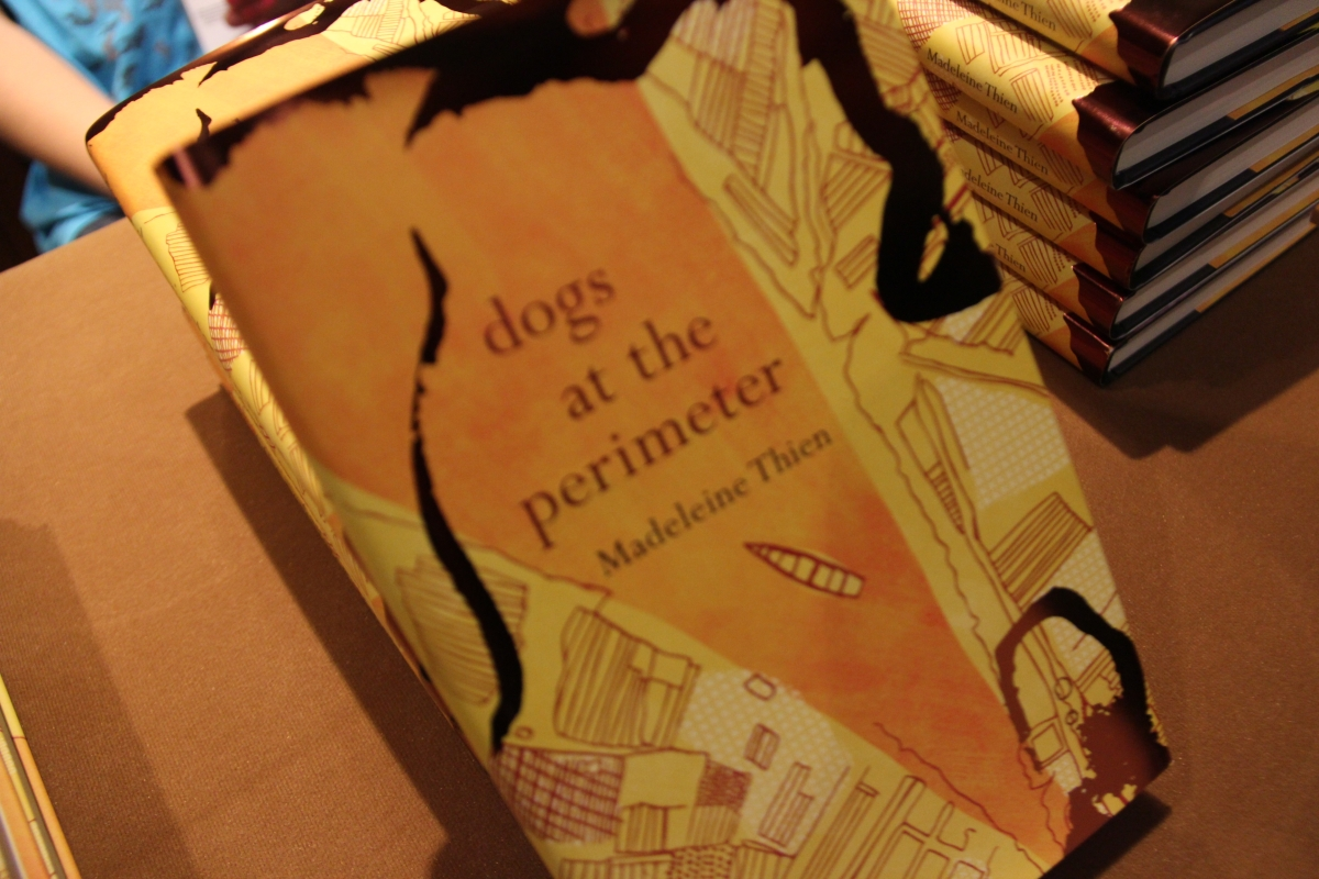 "Copies of ""Dogs at the Perimeter"" by Madeleine Thien. (Asia Society Hong Kong)"