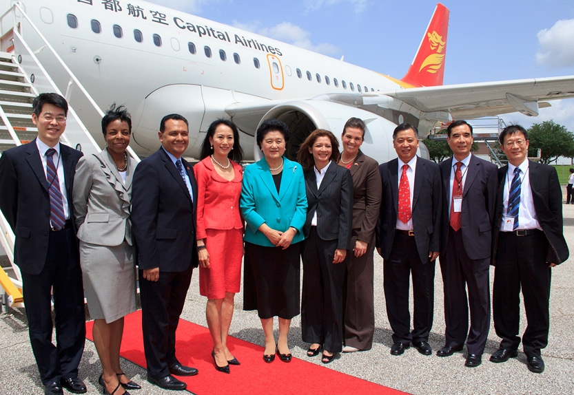 June 21 - Asia Society and other officials sending off Madame Liu Yandong, Vice Premier of the People's Republic of China. (May Zhou)