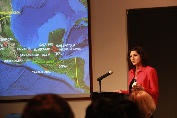 Dr. Christina Elson presenting about Jade Use in Ancient Mesoamerica and China in Asia Society Hong Kong Center on November 5, 2013