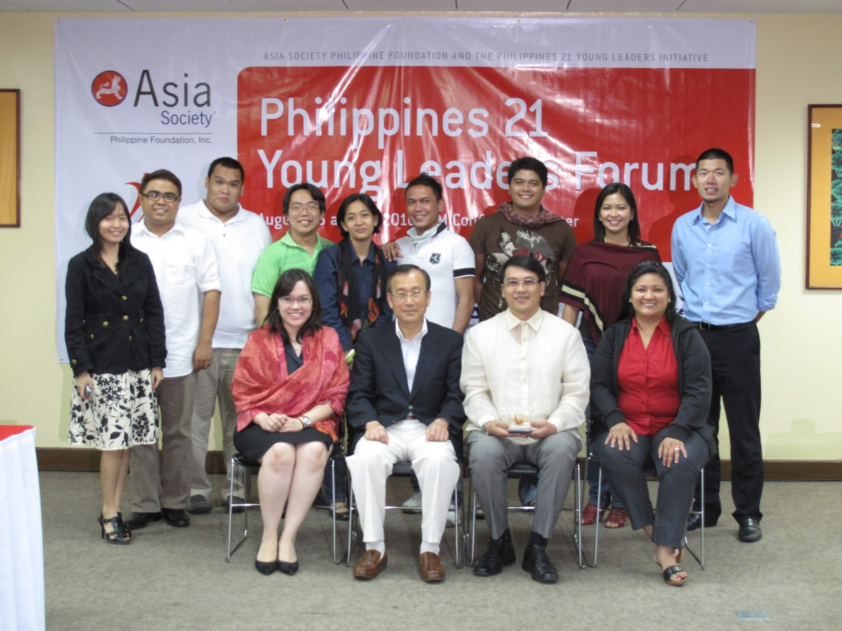 The Philippines 21 Class of 2010 with Ramon Magsaysay awardee, Mayor Tadatoshi Akiba of Hiroshima.