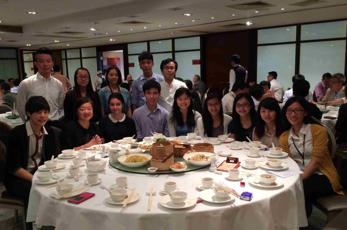 Interns had a lunch gathering with S. Alice Mong, Executive Director of ASHK, on August 7, 2014 (Asia Society Hong Kong Center)