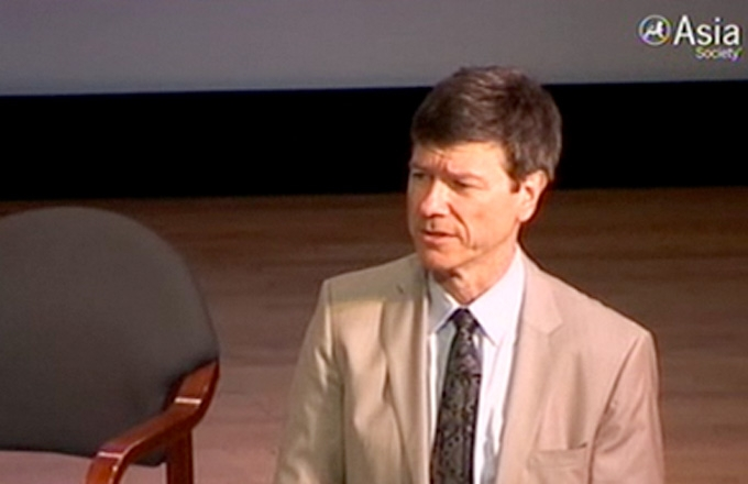 Jeffrey Sachs, director of the Earth Institute at Columbia University, at the Asia Society.