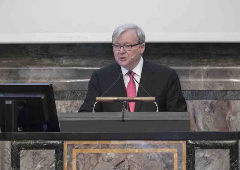 Kevin Rudd at the University of Zurich