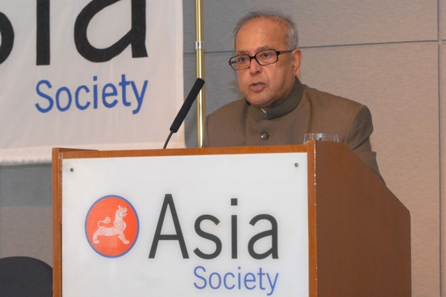 Pranab Mukherjee, Indian Minister of Foreign Affairs. (Elsa Ruiz/Asia Society)