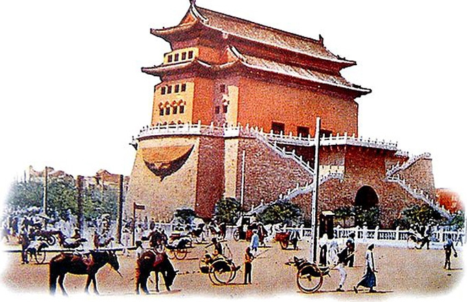 The front gate in Beijing, in an early-20th century photograph, from the The Last Days of Old Beijing.