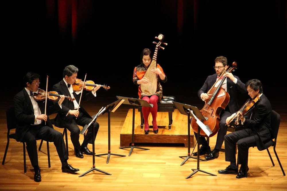 April 21 - The Shanghai Quartet and Wu Man performed works by Béla Bartók, Bright Sheng, and Lei Liang in this unique concert. (Evan Wildstein)