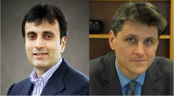 (Left: Ruchir Sharma; Right: Tom Nagorski)