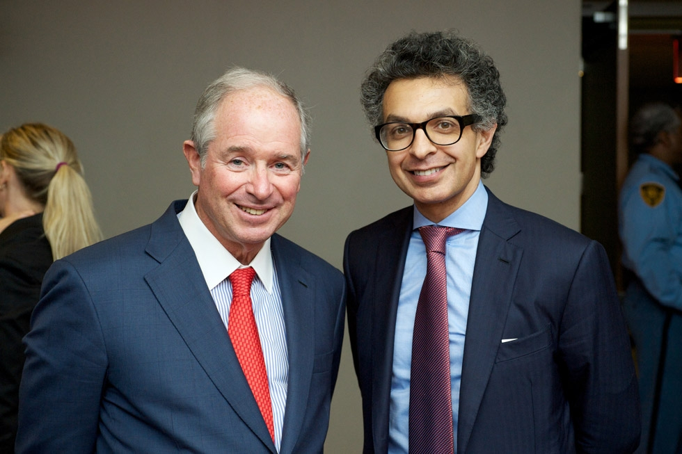 Stephen Schwarzman, left, and Saad Mohseni. (Ann Billingsley/Asia Society)