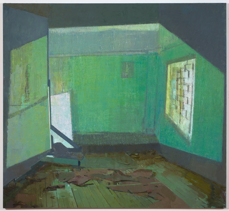Sangram Majumdar, two rooms, 2012, Oil on linen, Courtesy of the artist, ©2017 Sangram Majumdar