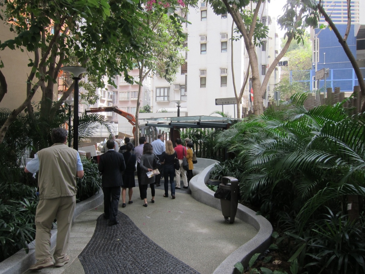 A pocket park in Wanchai. (Credit: Asia Society)
