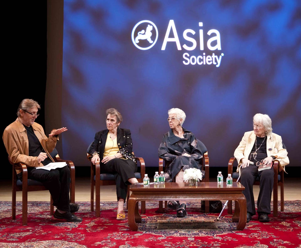 L to R: Andrei Serban, Angela Pietropinto, Valda Setterfield and Margaret Croyden at Asia Society New York on October 5, 2013.