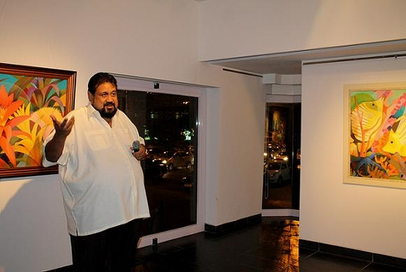 Visual artist Senaka Senanayake at Tao Art Gallery in Mumbai on October 22, 2013. (Asia Society India Centre)