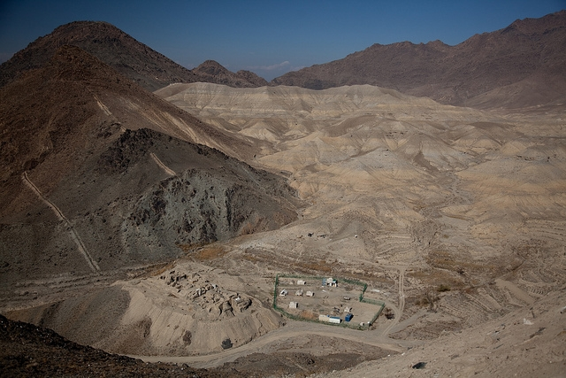 5. Mes Aynak, Afghanistan — Ancient Buddhist monastery complex on the Silk Road. Under threat due to development pressures, insufficient management, looting, war and conflict. (Jerome Starkey/Flickr)