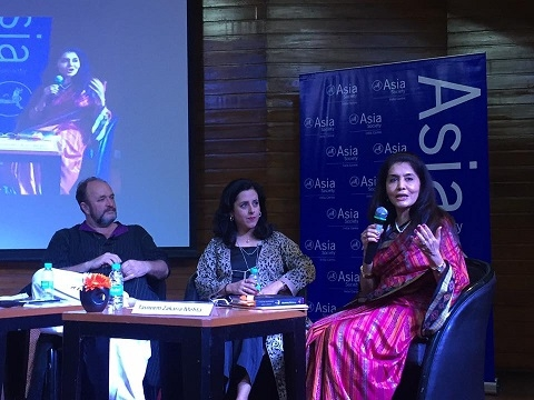 L-R William Dalrymple, Anita Anand and Tasneem Mehta