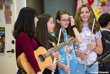 Upper School Students Practice for Lunar New Year Celebration. (Dan Berger Photography)