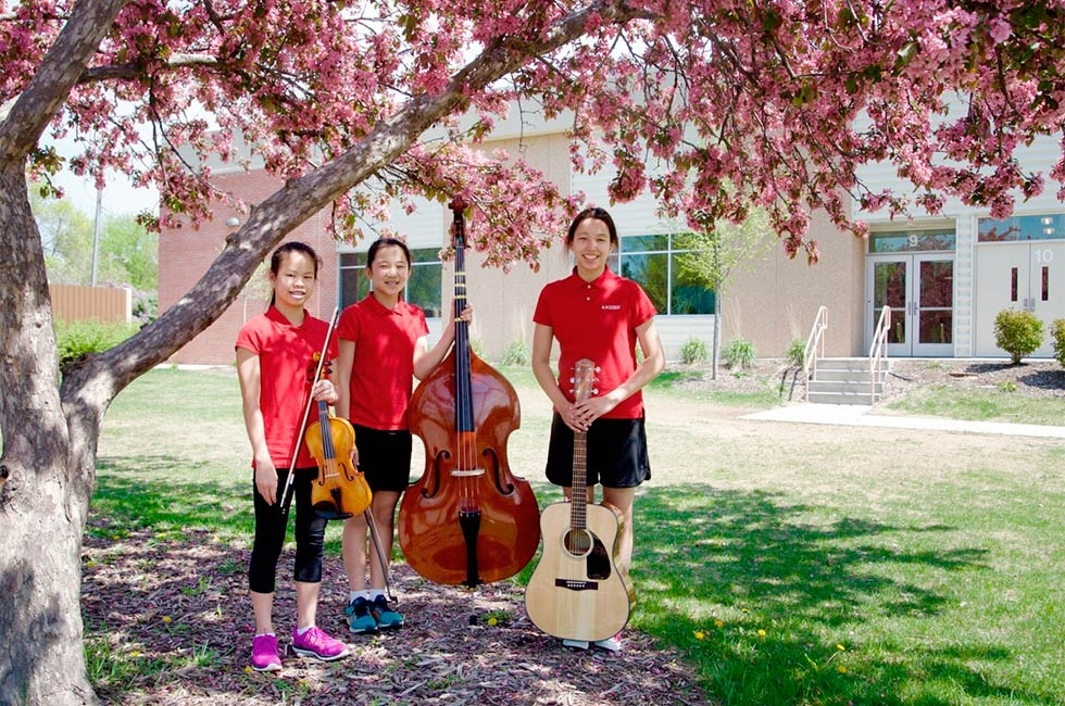 A Music Conservatory based at Yinghua provides lessons for more than 160 students on Western instruments as well as the Chinese erhu. (Erin Spector/Yinghua Academy)