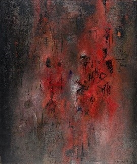 Zao Wou-Ki, Pavillon rouge, 1954. Oil on canvas.