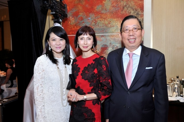 (L to P) Maggie Tsai, Melissa Chiu, Richard Tsai at Asia Society's second annual Art Gala on May 12, 2014. (Asia Society Hong Kong Center)