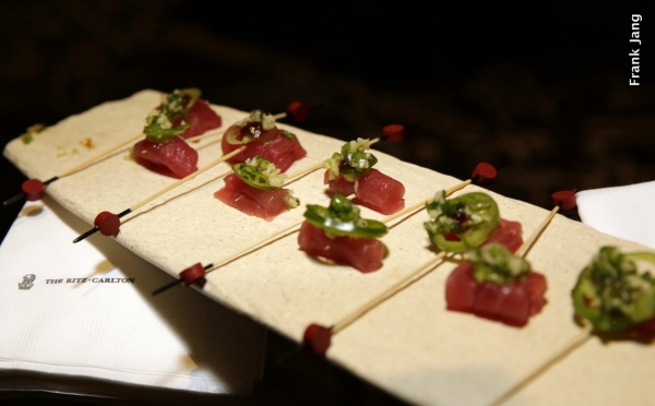 Ritz-Carlton Hotel hors d'oeuvres in the VIP Reception (Frank Jang Asia Society)