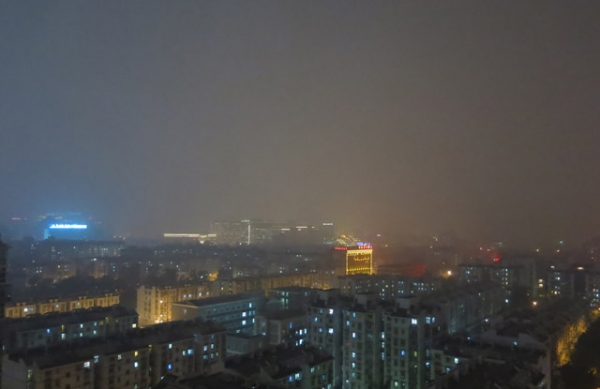 Beijing's air quality in the early morning hours of November 2, 2013, as pictured by China Air Daily.