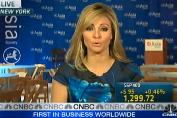 CNBC's Amanda Drury reporting live from the Asia Society in New York on Wednesday, March 23, 2011.