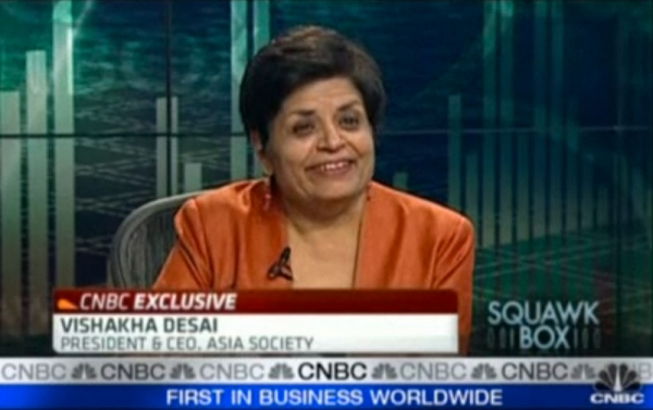 Asia Society President and CEO Vishakha Desai on CNBC's Squawk Box on Thursday, March 31, 2011.