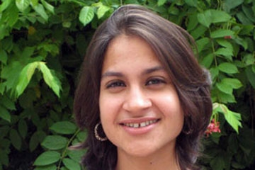 Alia Amirali, General Secretary of the Student Federation in the Punjab.