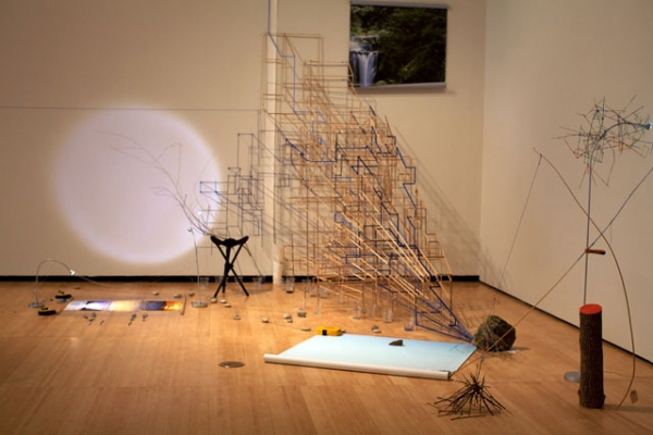 "Installation view of ""Sarah Sze: Infinite Line"" at the Asia Society Museum in December 2011. (Shreeya Sinha/Asia Society)"