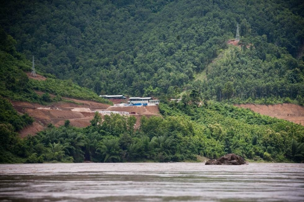 "The site of the proposed Xayaburi Dam in Laos on July 22, 2011. The dam was at the middle of one of several ""micro-disputes"" in Southeast Asia in 2011. (Flickr/International Rivers)"