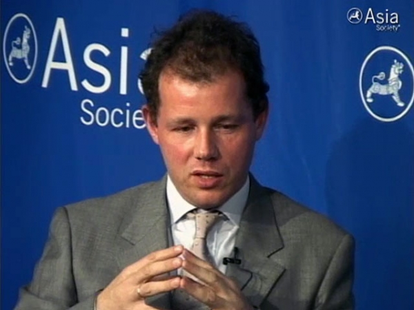 Author Christopher de Bellaigue at Asia Society New York on May 15, 2012.