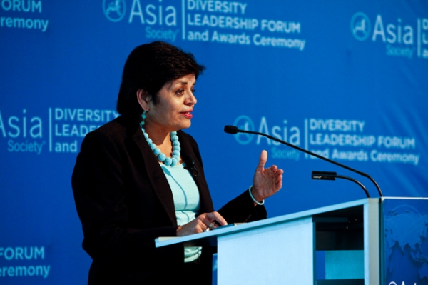 Asia Society President Vishakha Desai speaks at the Diversity Leadership Forum in New York in June 2012. (Suzanna Finley/Asia Society)