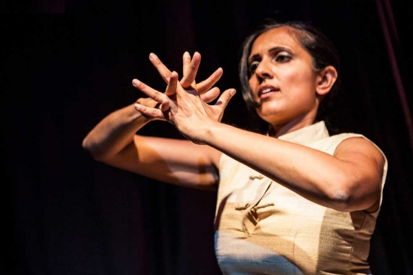 "Dancer Parijat Desai performing at the ""Unification"" event in New York City on August 12, 2012. (Neha Gautam Photography)"