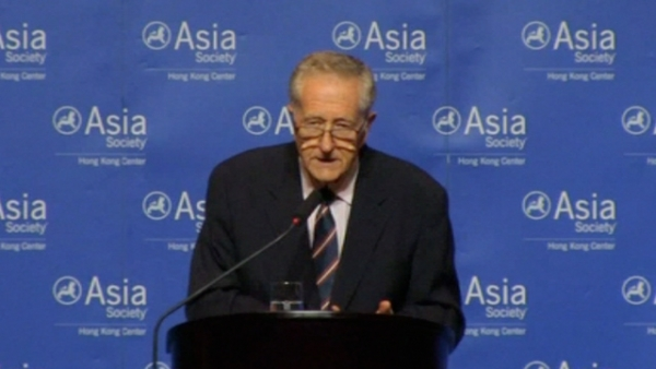 Burton Levin, former U.S. Ambassador to Myanmar, addresses Asia Society Hong Kong on September 20, 2012.