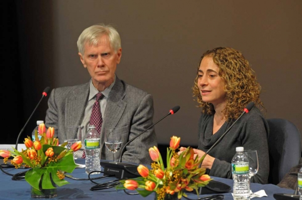 Orville Schell and Elisabeth Rosenthal. (Elsa Ruiz/Asia Society)