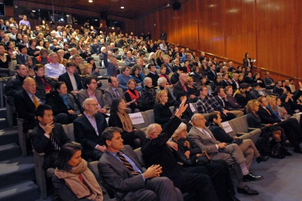 A full house at the sold-out ChinaFile launch at Asia Society New York on February 5, 2013. (Elsa Ruiz/Asia Society)