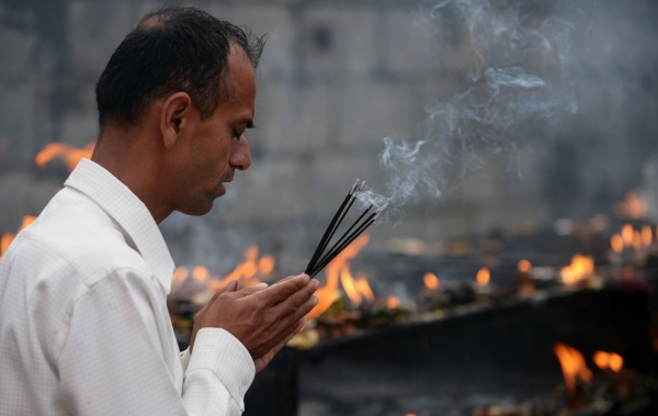 According to the Nepali calendar, Shravan is the holiest month of the year, with each Monday of the month known as Shravan Somvar, when worshippers offer prayers for a happy and prosperous life. (Prakash Mathema/AFP/Getty Images)