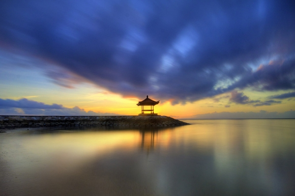 The sun rises over the calm waters of Bali, Indonesia on August 31, 2013. (Pandu Adnyana/Flickr)