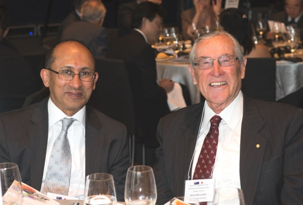 Peter Varghese AO, Secretary, Department of Foreign Affairs and Trade with Richard Woolcott AC, Founding Director, Asia Society Australia. (Irene Dowdy)