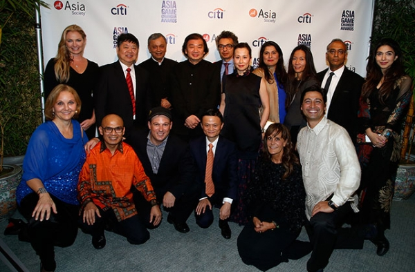 Winners of Asia Society's inaugural Asia Game Changers Awards at the United Nations in New York City on Oct. 16, 2014. (Jim Celeste/Patrick McMullan)