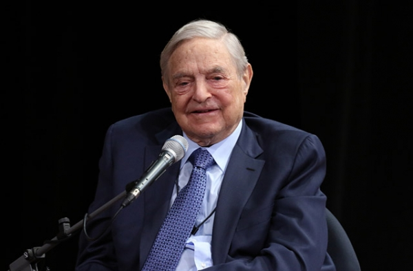 George Soros speaks at Asia Society in New York on April 20, 2016. (Ellen Wallop/Asia Society)