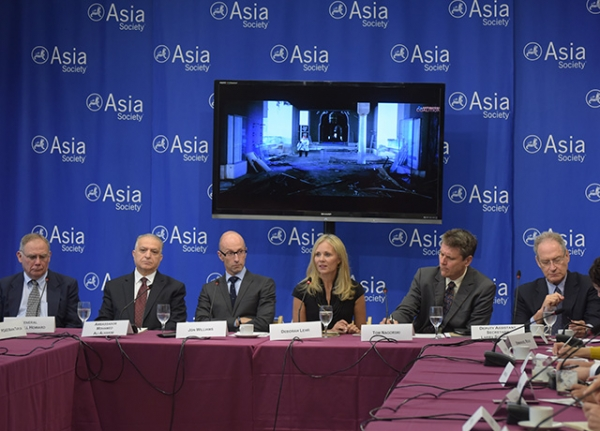 A high-level panel convenes to discuss the ongoing challenges of combating antiquities looting. (Elsa Ruiz/Asia Society)