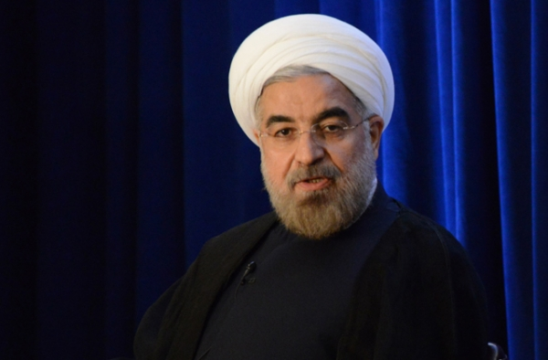 Iranian President Hassan Rouhani, seen here during an appearance at Asia Society in 2013, faces voters on May 19. (Kenji Takigami/Asia Society)