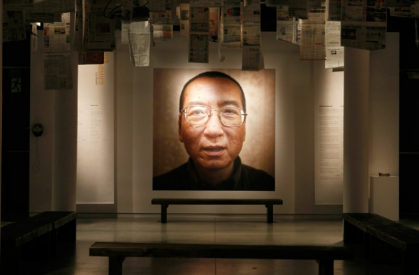 Liu Xiaobo, the Chinese dissident who died Thursday, was awarded the Nobel Peace Prize in absentia in Oslo, Norway, in 2010. (Berit Roald/AFP/Getty Images)