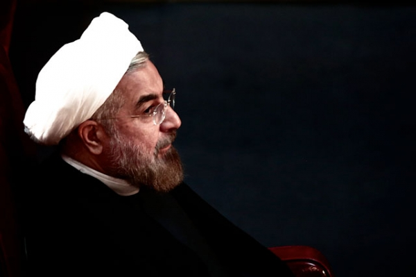 Iranian President Hassan Rowhani attends a session of the Assembly of Experts in Tehran on September 3, 2013. (Behrouz Mehri/AFP/Getty Images)