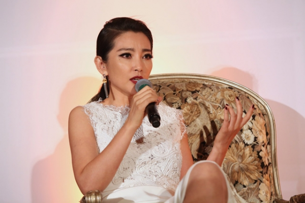 Chinese actress Li Bingbing speaks during the 2013 Asia Society U.S.-China Film Summit and Gala held at the Millennium Biltmore Hotel on Tuesday, November 5, 2013, in Los Angeles, Calif. (Ryan Miller/Capture Imaging)