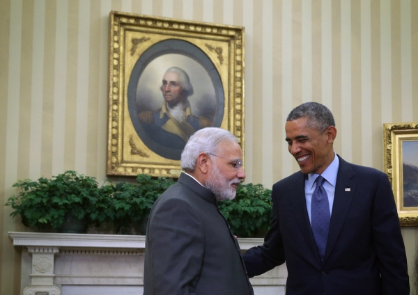 U.S. President Barack Obama meets with Indian Prime Minister Narendra Modi in the Oval Office of the White House on September 30, 2014. (Alex Wong/Getty Images)