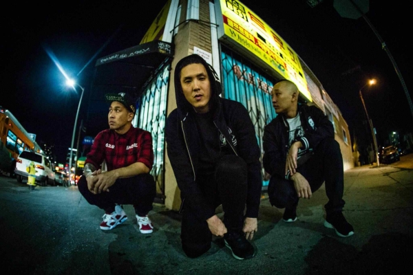 Prohgress, DJ Virman, J-Splif and Kev Nish of hip hop group Far East Movement. (Big Hassle Media)