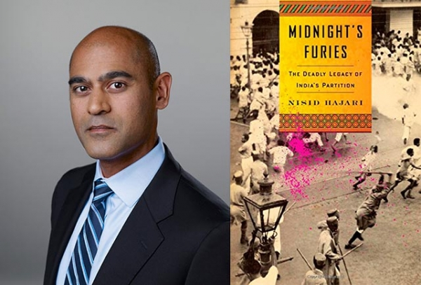 """Midnight's Furies: The Deadly Legacy of India's Partition"" (Houghton Mifflin Harcourt, 2015), a new book by Nisid Hajari (L). (Author photo: Courtesy of Houghton Mifflin Harcourt)"
